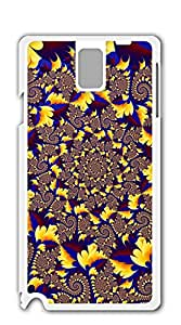 NBcase Yellow and Blue Spiral Art Hard PC case for samsung galaxy note 3 purple