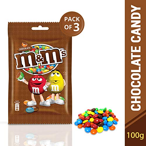 M&M's Milk Chocolate Candies Gift Pack, 100g (Pack of 3)
