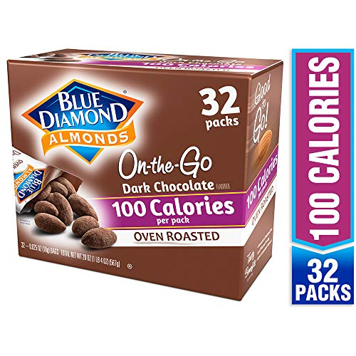 Blue Diamond Almonds, Oven Roasted Cocoa Dusted Almonds, 100 calorie packs, 32 ()