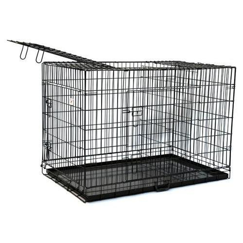 BestPet 3-Door Pet Folding Cage Dog Crate Kennel with ABS Tray, 30-Inch