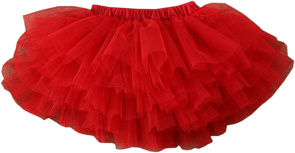 Alien Storehouse Gonna Tutu per Bambina Gonna in Tulle con Gonna da Bambina Vestitino da Bambina Rosso-3