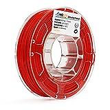 AMOLEN 3D Printer Filament, Red 1.75mm PETG Filament for 3D Printing +/- 0.03 mm, 225g(0.5LBS) Spool