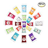 Erosom 12 Colors Mica Powder Pigments Soap Dye for Soap Coloring - Soap Making Colorants Set - 0.2 oz 12 bags - Skin Safe for DIY Soaps, Bath Bombs, Candle Making, Nail Polishes, Resin Makeup Dye.