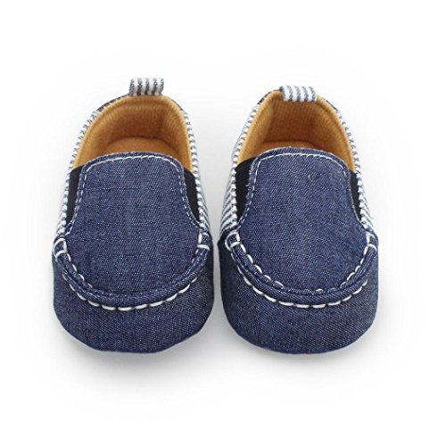 Igemy 1Paar Neugeborene Baby Säugling Kinder Mädchen Jungen Weiche Sole Krippe Kleinkind Schuhe Dunkelblau