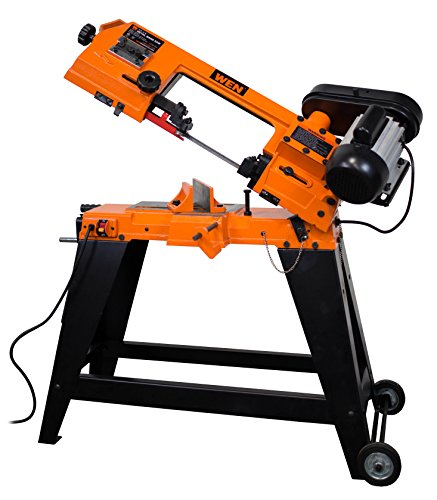 WEN 3970 Metal-Cutting Band Saw with Stand, 4' x 6'