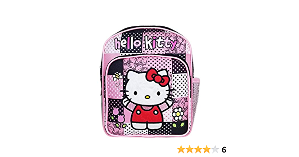 """Girls Sanrio Hello Kitty Pink Sequin Embroidery Backpack 12/"""" x 10/"""" x  6/"""""""