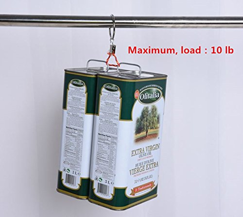 leoyoubei Metal Drapery Curtain Rings with Clips,Decorative Drapery Curtain Clip Rings, Premium Iron Metal Material 30-pieces-Interior Diameter (2.5'', black)