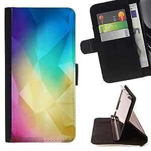 Momo Phone Case / Flip Funda de Cuero Case Cover - Polígono Colores;;;;;;;; - Samsung Galaxy S5 Mini, SM-G800