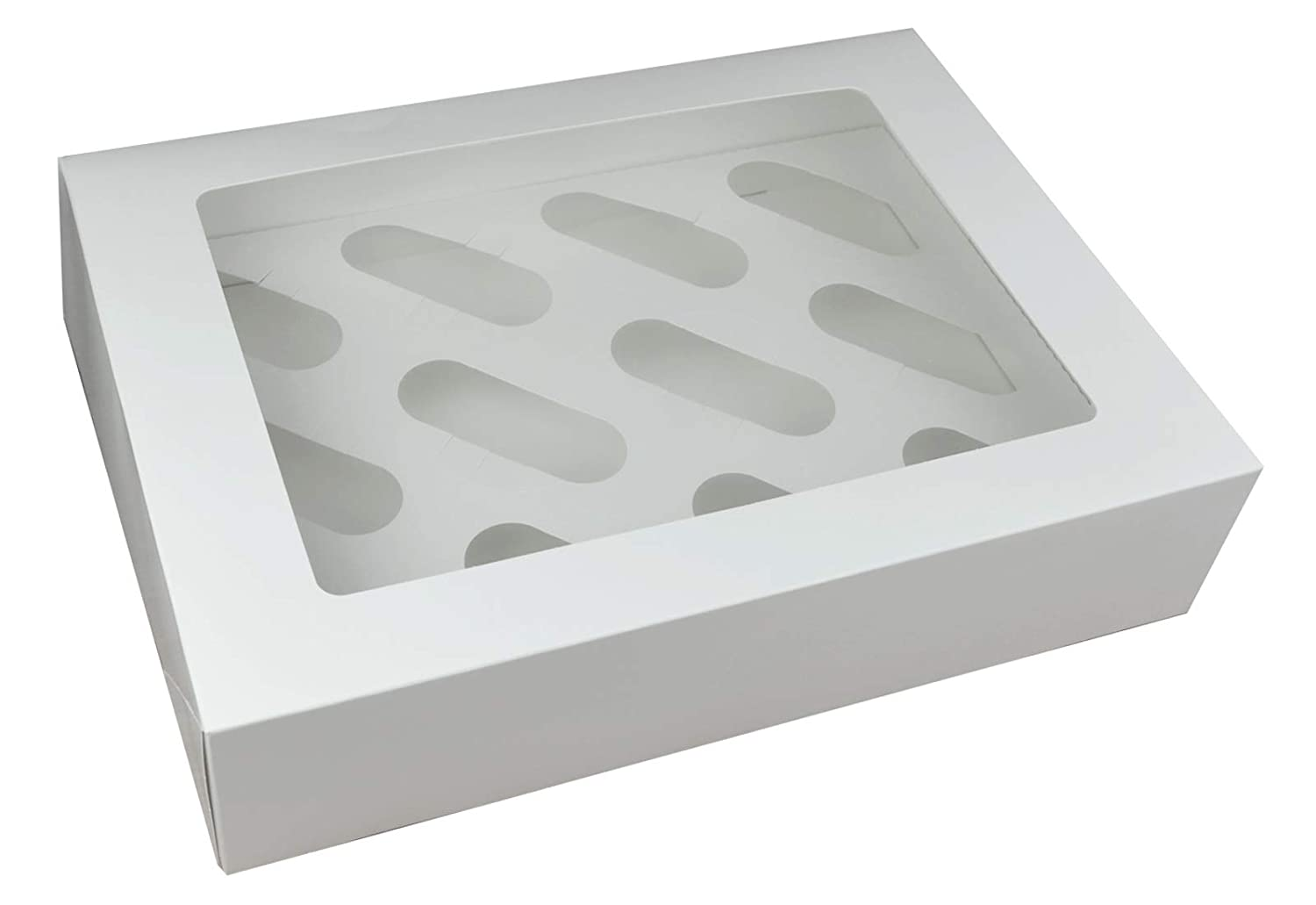 Cupcake boxes for 4 cupcake window top /& insert pack of 10 white