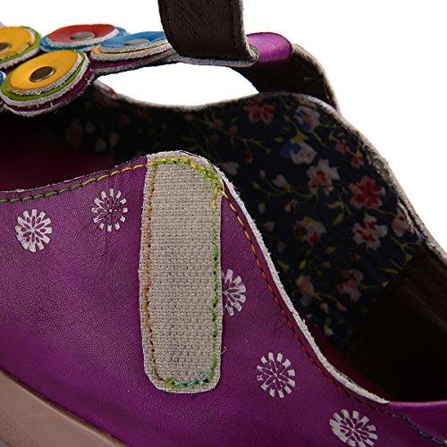 Primavera Mocasines Hecho Patrón Libre Vintage Merceditas Cómodo Aire Para Slip Casual De Rosa Flores Planos Caminar Cuero Verano A Gracosy Mano Zapatos Mujer Barco Al on PqwxZdnPTB