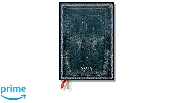 Paperblanks 2019 Midnight Steel Midi - Agenda semanal (12 ...