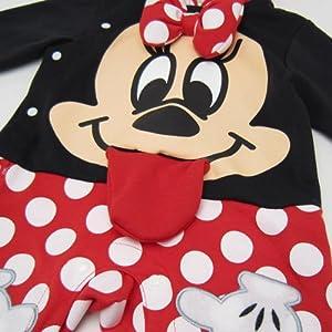 (ベビー服) なりきりカバーオール (90cm) 「あっかんべー」 ミニーマウス ディズニー 子供用 ベビー用品