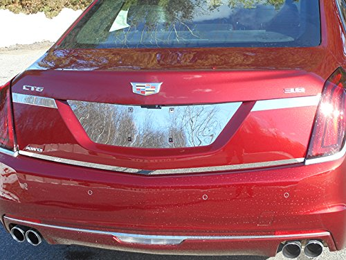 "QAA FITS CT6 2016-2018 CADILLAC (1 Pc: Stainless Steel Rear Deck Accent Trim - 0.75"" wide, 4-door) RD56230"