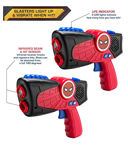 eKids Marvel Spiderman Far from Home Laser-Tag Infared Blasters, Lights Up & Vibrates - http://coolthings.us