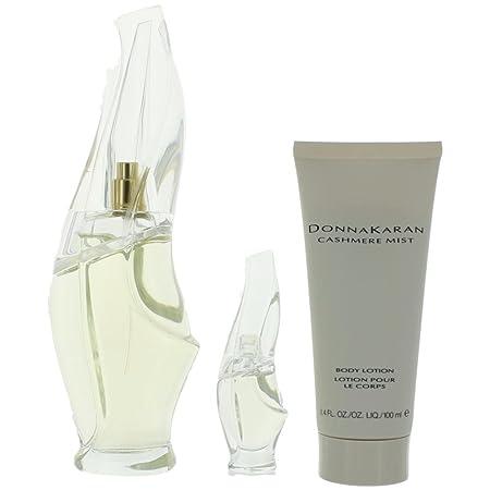 Cashmere Mist by Donna Karan for Women 3 Piece Set Includes 3.4 oz Eau de Parfum Spray 0.17 Eau de Parfum Collectible 3.4 oz Body Lotion