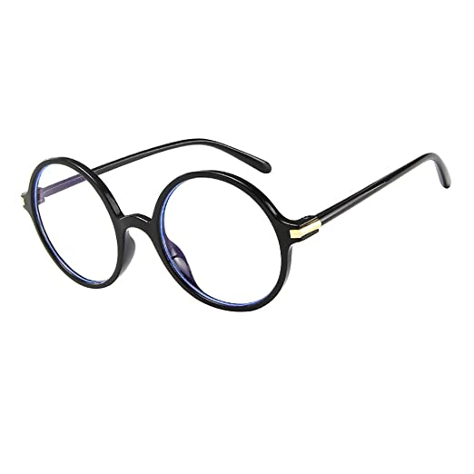 af56e0be5710 Amazon.com  Anboo Women Men Round Clear Lens Glasses Vintage Geek Nerd Retro  Style Metal Frame Utdoor Sunglasses Eyewear  Clothing