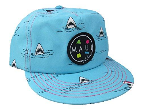 Maui & Sons Men's Bite Me Flip up Snapback Hat (Blue, One -