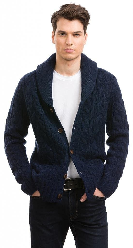 Citizen Cashmere Shawl Collar Cardigans 100 Tibetan Yak Wool Navy L 42 123y 17 03 Amazon In Clothing Accessories