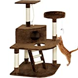 Eight24hours Pet Play House 47'' Cat Tree Scratcher Condo Furniture - Brown + FREE E-Book