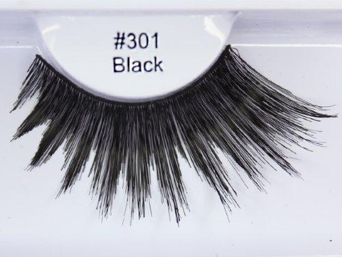 0e3ab5f64fa Elegant Lashes #301 Thick Long Black Human Hair False Eyelashes Drag  Halloween Dance Rave Costume by Elegant Lashes: Amazon.es: Belleza