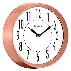 Bulova Cleaver Wall Clock, Copper