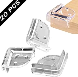 VICSPORT Corner Protectors for Kids 20pcs Clear Table Furniture Corner Protectors Guards for Baby Child