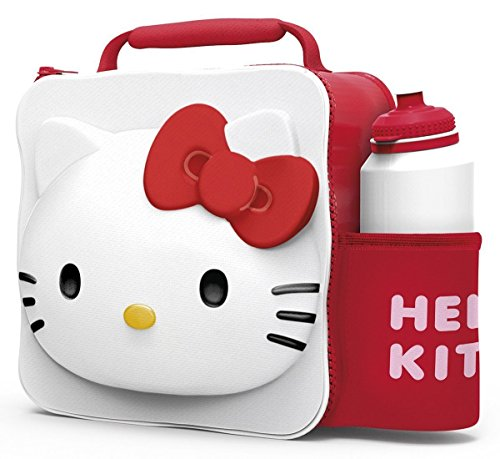 - PAW Kids Children Insulated 3D Lunch Bag Box and Drink Sport Water Bottle Set (Hello Kitty)