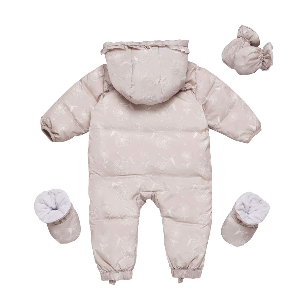 Ding-dong B/éb/é Fille Hiver Combinaisons de Neige /à Capuche Snowsuit de Duvet avec Gants