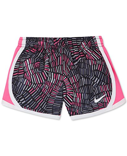 NIKE Girls Dry Tempo Running Shorts Black (3MA703-023) / Pink/White P8v4xLPGo5