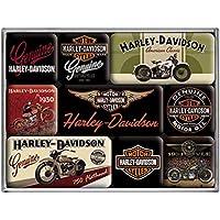 Nostalgic Art Harley Davidson Bikes Magnet Set