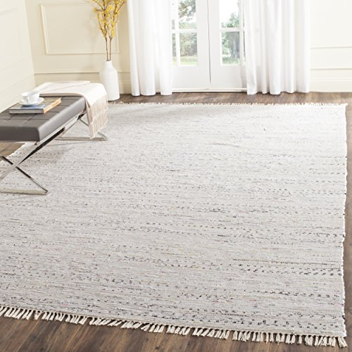 Safavieh Rag Rug Collection RAR121G Hand Woven Ivory and Multi Cotton Square Area Rug (8' Square) ()