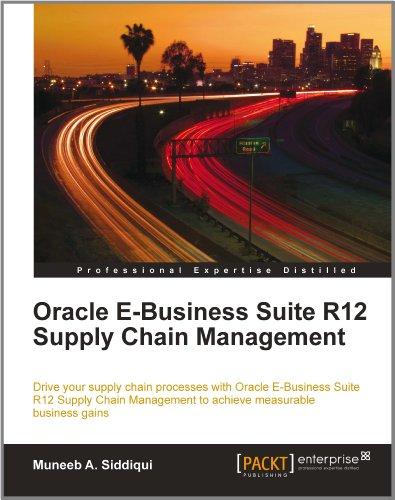 Oracle E-Business Suite R12 Supply Chain Management Pdf