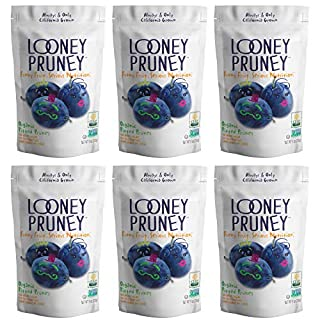 Looney Pruney California Organic Pitted Prunes/ Non-GMO Project Verified / No added Sugars & No Preservatives (6pack)