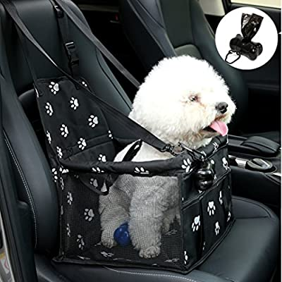 NO Collapse Dog Car Booster Seats Safety Seat Car Seat Cover with Dog Seat Belt Non Slip Carrier,waterproof, Breathable, Portable, Foldable for Small Pets Animals Cat Puppy