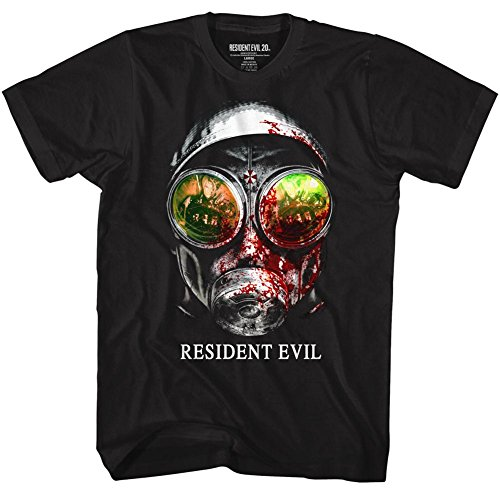 Resident Evil Horror Science Fiction Video Game Gasmask Black Adult T-Shirt Tee (XX-Large)