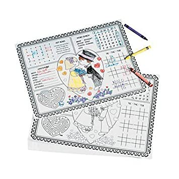 Amazon Fun Express Paper Wedding Childrens Activity Placemats