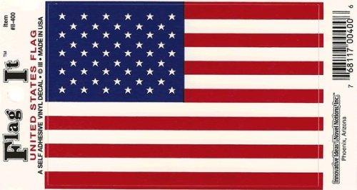 United States Heavy Duty Vinyl Bumper Sticker (3 x 5 Inches) by Flag It