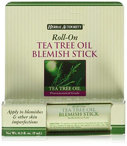 Tea Tree Oil Blemish Stick (Herbal Authority Roll-on Tea Tree Oil Blemish Stick 0.3oz)