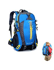 40L Large Capacity Hiking backpack for Men and Women, Outdoor Breathable Waterproof Backpack Hiking Daypack (blue)