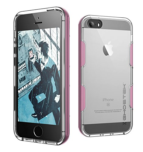 - Ghostek Cloak Series for Apple iPhone SE 5S 5 Slim Protective Armor Case Cover Tempered Glass (Pink)