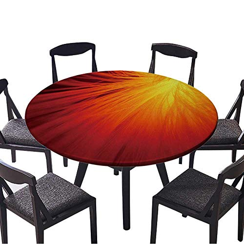 Modern Table Circle Cloth Sunburst in fire red Indoor or Outdoor Parties 35.5