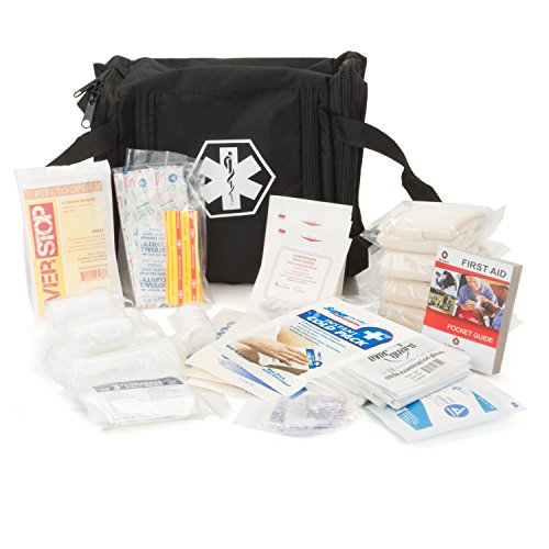 Eco Medix First Aid Kit Emergency Response Survival Bag Fully Stocked (Black) by Eco Medix First Aid
