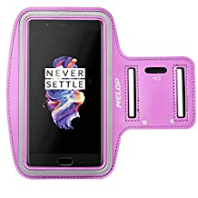 MELOP Armband for OnePlus 5 3T 3 2 one, OnePlus Five, Soft Sweat Resistant Sports Gym Arm Band with Key Holder Card Cash Pocket - Purple