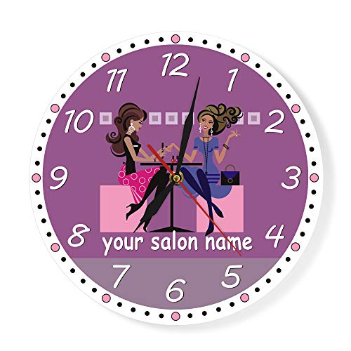 The Geeky Days Nail Tech Modern Wall Clock Beauty Salon, used for sale  Delivered anywhere in Canada