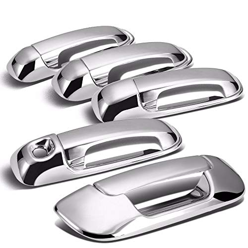 WALKER TRENT - ABS Chrome Door Handle Cover + Tailgate Cover For 02-08 Dodge Ram 1500/04-09 Dodge Ram 2500/03-09 Dodge Ram 3500 4 DOOR