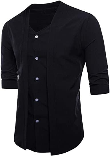 Camisas Casual Hombre Manga Larga, Covermason Trajes Formales ...