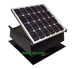 Amazon Com Rand Solar Powered Attic Fan 30 Watt W Roof