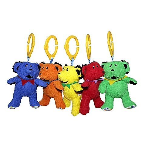 Daphyls Grateful Dead Dancing Bears Plush (Set of 5)