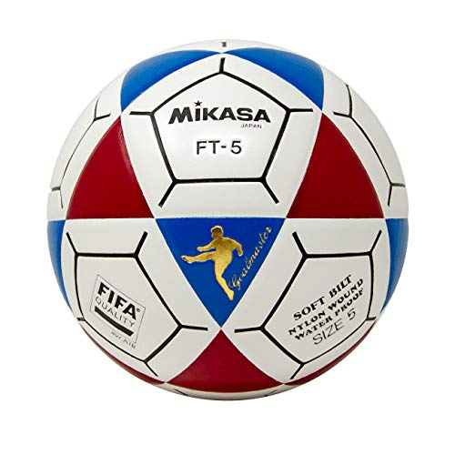 e0ccef4a4 Mikasa FT5 Goal Master Soccer Ball, Blue/Red/White, Size 5