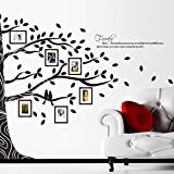 2016 NEW Large 257*200CM 3D DIY Photo Frame Tree PVC Wall Decals Adhesive Family Wall Stickers Mural Art Home Decor